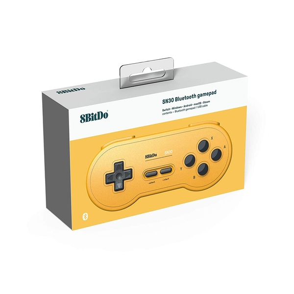 8Bitdo SN30 Gamepad - Yellow Edition for Nintendo Switch Deals