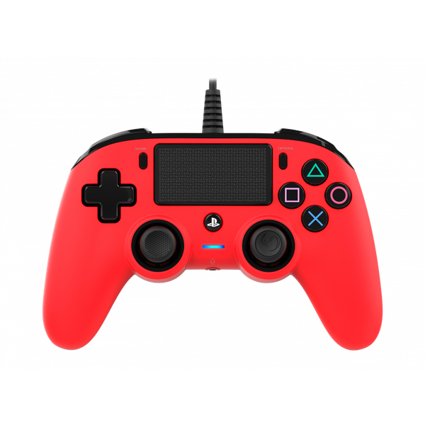 Nacon Compact Wired Controller - Red for PS4 Deals