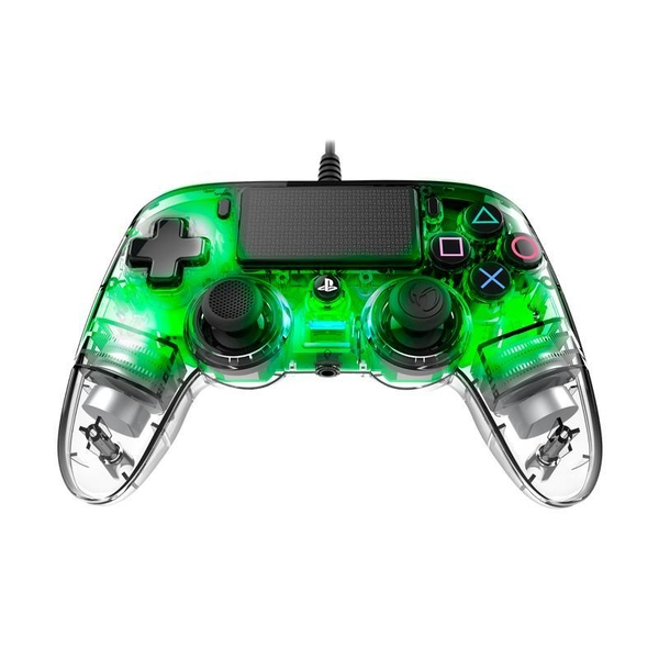 Nacon Compact Wired Illuminated Light Edition Controller - Green for PS4 Deals