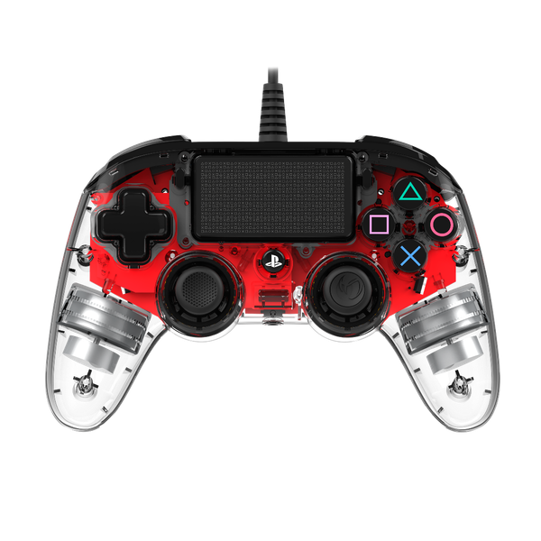Nacon Compact Wired Illuminated Light Edition Controller - Red for PS4 Deals