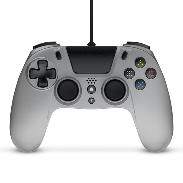 Gioteck VX-4 Wired Controller - Silver for PS4 Deals
