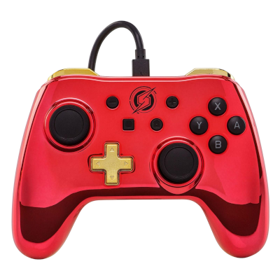 PowerA Wired Controller – Samus Red Chrome for Nintendo Switch Deals
