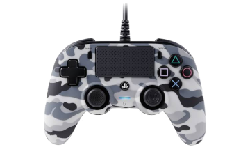 Nacon Compact Wired Controller - Grey Camo for PS4 Deals