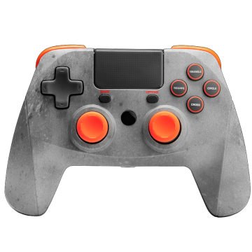 Snakebyte Gamepad Wireless Controller - Grey and Orange for PS4 Deals