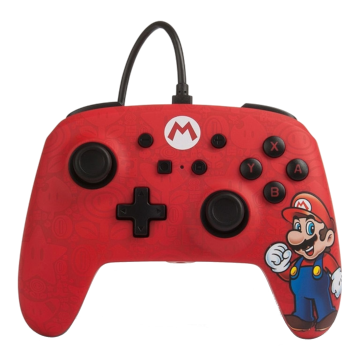 PDP Faceoff Deluxe+ Audio Wired Controller - Mario Red for Nintendo Switch Deals