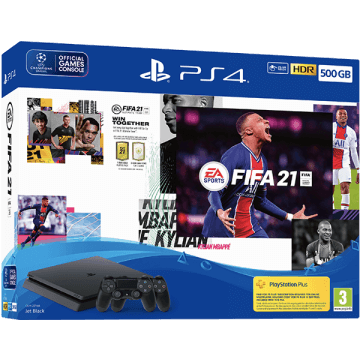 PS4 Slim 500GB: FIFA 21: 2 Dualshock Controllers Deals