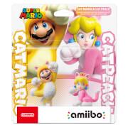 Cat Mario and Cat Peach Double Pack amiibo (Super Mario Collection) Deals