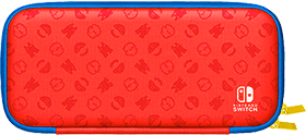 Mario Red & Blue Edition Carrying Case & Screen Protector for Nintendo Switch