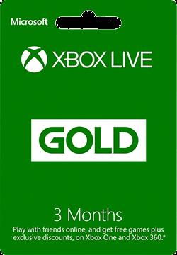 Xbox Live 3 Months Gold Membership