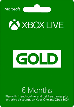Xbox Live 6 Months Gold Membership