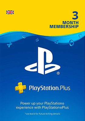 Playstation Plus 3 Months Membership - UK