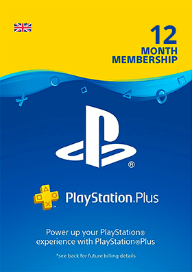 Playstation Plus 12 Months Membership - UK