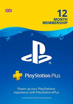 Playstation Plus 12 Months Membership - UK