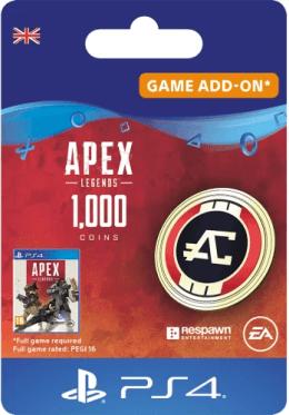 Apex Legends 1000 Apex Coins - PlayStation UK