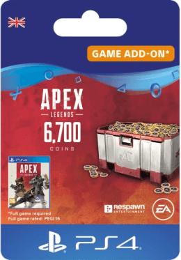 Apex Legends 6700 Apex Coins - PlayStation UK