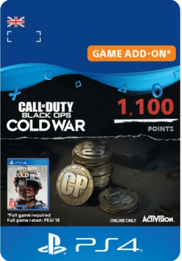 Call of Duty: Black Ops Cold War 1100 Points - PlayStation UK