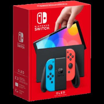 Nintendo Switch OLED: Neon Blue & Neon Red Joy-Con