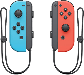 Nintendo Switch Joy-Con Controller Pair - Neon Red & Blue