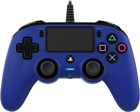 PS4 Nacon Wired Compact Controller - Blue Deals