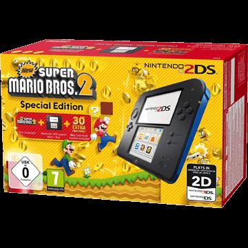 Nintendo 2DS: Black / Blue: New Super Mario Bros. 2 Deals
