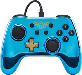 PowerA Wired Controller - Chrome Blue Link for Nintendo Switch Deals