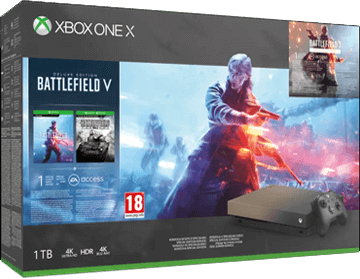Xbox One X 1TB: Battlefield V (with Battlefield 1) - Gold Rush Special Edition Deals