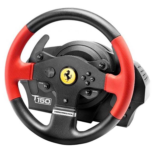 Thrustmaster T150 Ferrari Edition UK Version - Black / Red Deals