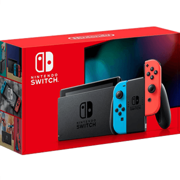 Nintendo Switch: Neon Blue & Neon Red Joy-Con - Extended Battery Life