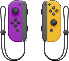 Nintendo Switch Joy-Con Controller Pair - Neon Purple & Neon Orange Deals