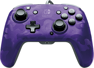 PDP Faceoff Deluxe+ Audio Wired Controller - Purple Camo for Nintendo Switch Deals