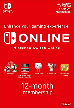 12 months Nintendo Switch Online
