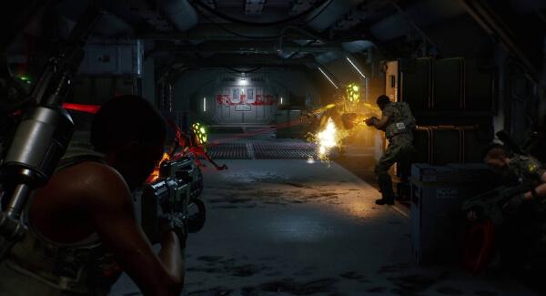 Aliens Fireteam Elite shooting