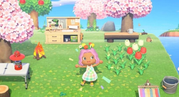Animal Crossing New Horizons - garden