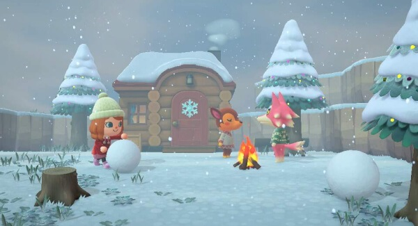Animal Crossing New Horizons - snow