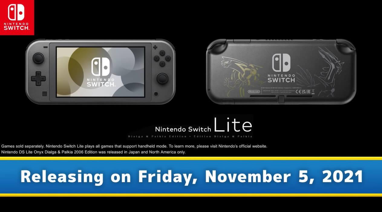 Dialga and Palkia edition Nintendo Switch Lite