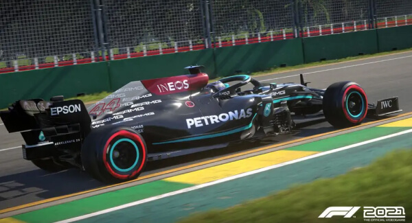 F1 2021 top-down cars