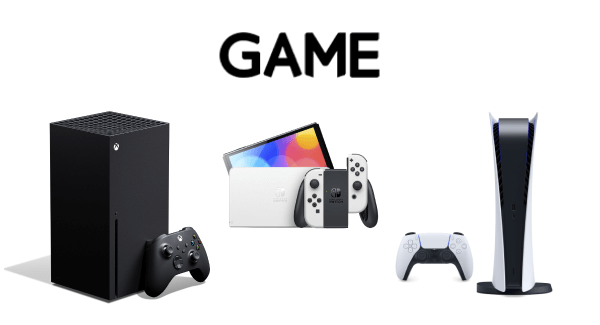 GAME PS5, Xbox Series X And Nintendo Switch OLED