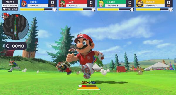 Mario Golf Super Rush - multiplayer