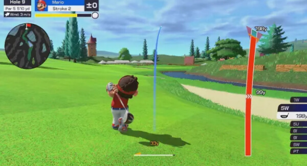 Mario Golf Super Rush - swing