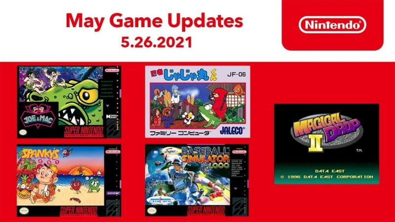 MAY 2021 - Nintendo switch online