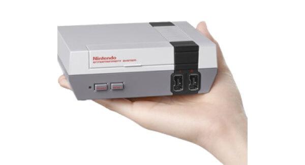 NES Mini Console In Hand