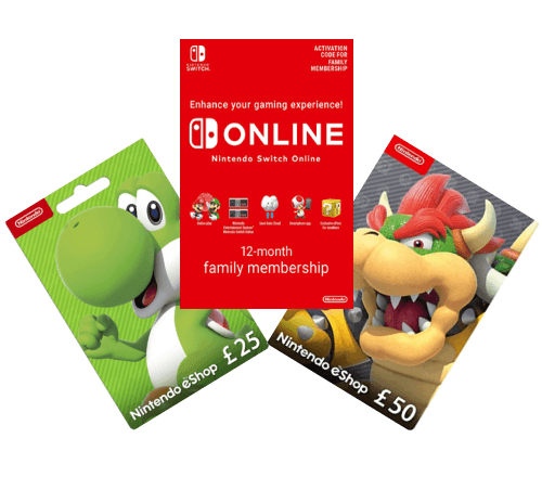 Nintendo Gift Card and Wallet Top-Up Deals
