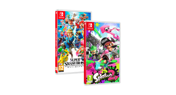 Nintendo Switch exclusive games - splatoon 2 + smash