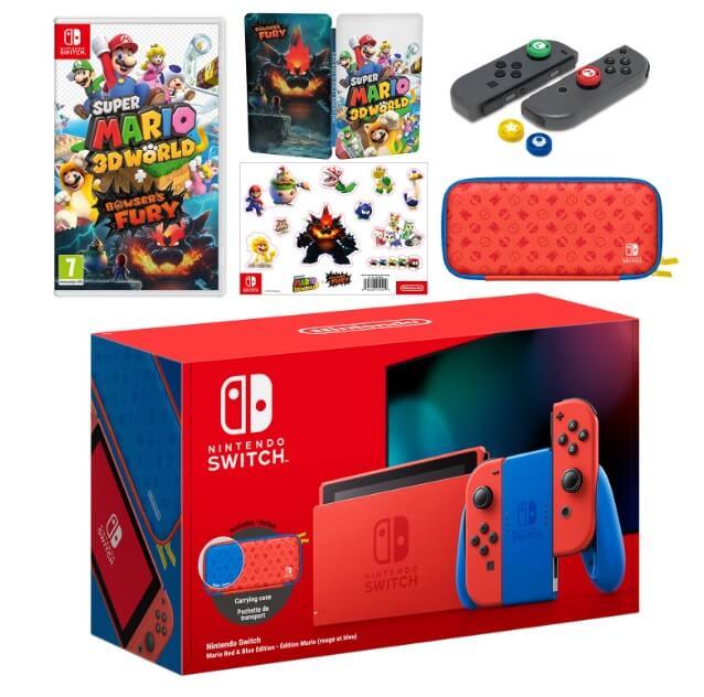 Nintendo Switch Mario Red & Blue Edition bundle