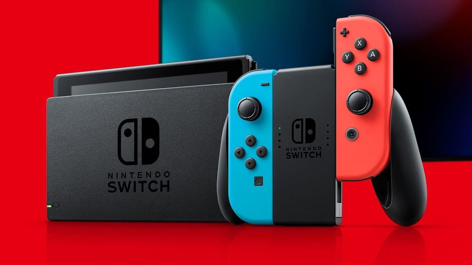 Nintendo Switch - red background