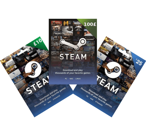Steam Gift Card and Wallet Top-Up Deals