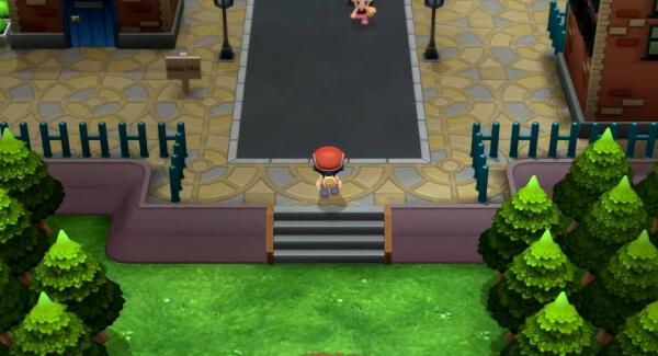 Pokémon Brilliant Diamond - town