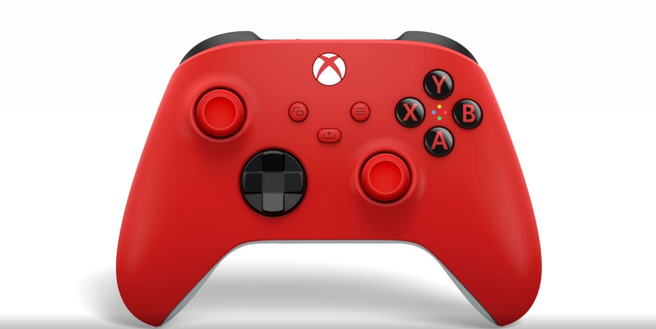 Pulse Red Xbox Controller - front