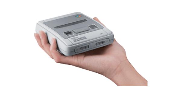 SNES Mini Console In Hand