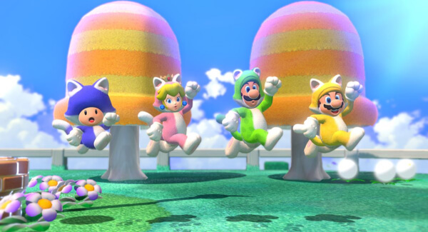 Super Mario 3D World co-op